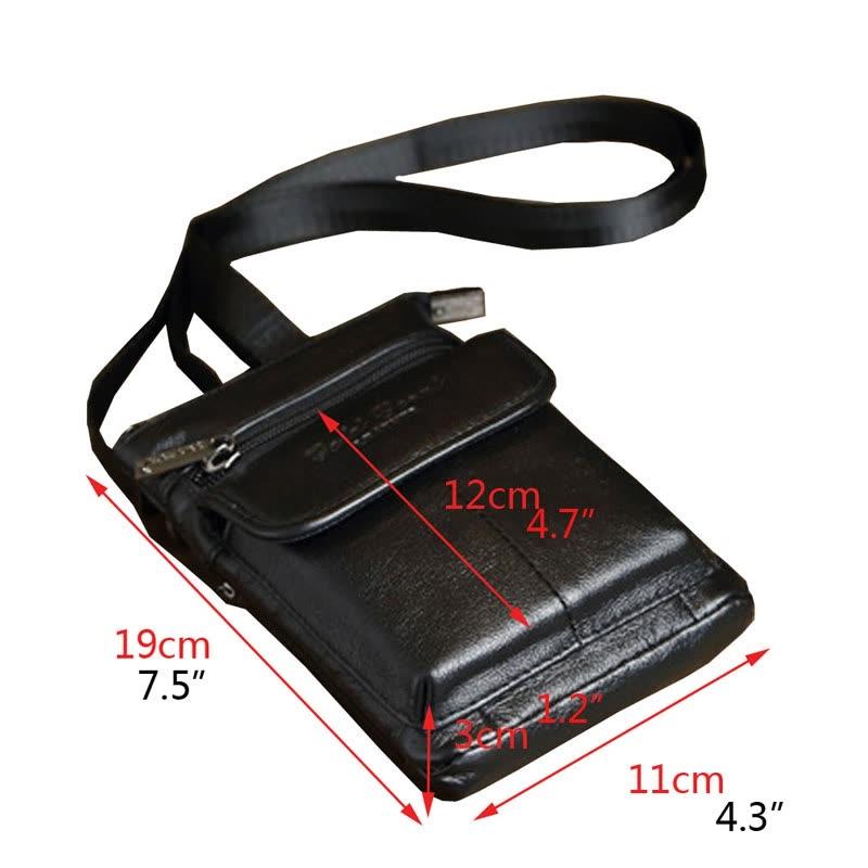 e0a7ec8809 Shop Men Vertical Leather Belt Bag Belt Loop Cell Phone Holster Case ...