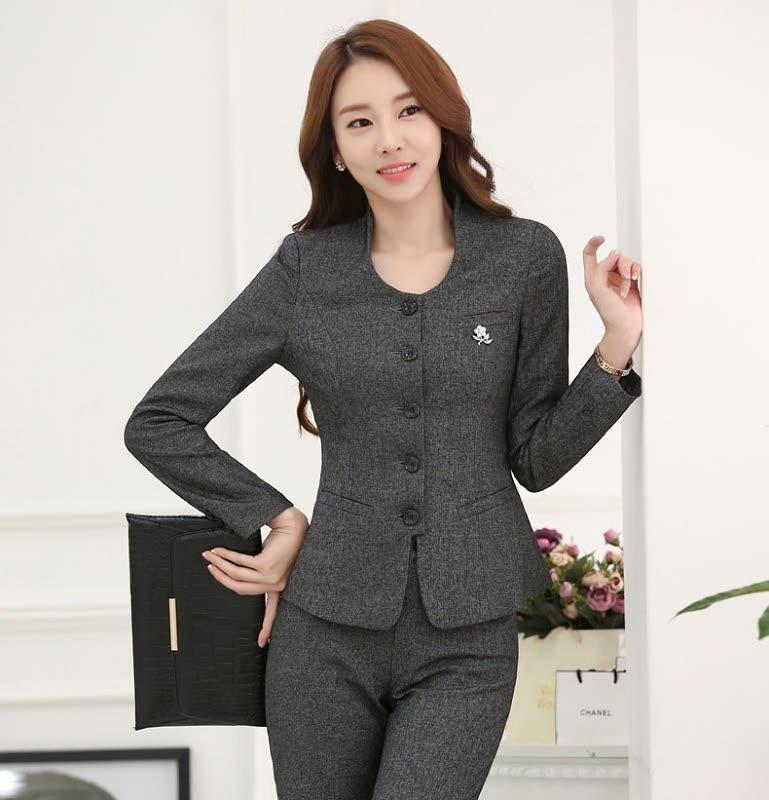 54a56a7bc84f Formal OL Styles Long Sleeve Slim Fashion Professional Work Wear Blazers    Jackets Autumn Winter Ladies Tops Outwear Blazer