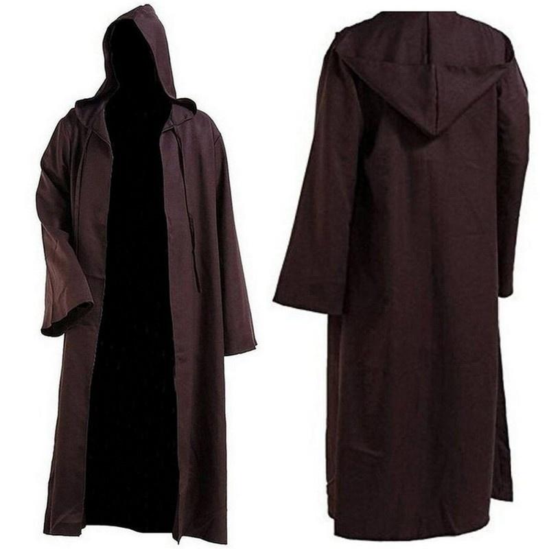 US STAR WARS JEDI Knight Robe Hooded Cloak Cape Costume Halloween Cosplay Gift