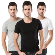 9550848398868  Jingdong Supermarket  Antarctic (Nanjiren) N695X20751 3 pieces of  men  39 s vest cotton thread sports elastic Slim men  39 s sweater black  and white gray ...