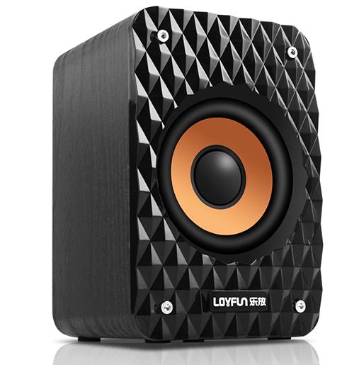 Music amplifier (LOYFUN) M32 laptop speakers desktop speakers computer desktop audio subwoofer (mahogany) - Jingdong